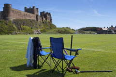 Bamburgh Castle Croquet Stock Images