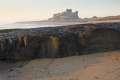 Bamburgh Castle at Dawn. Royalty Free Stock Photo