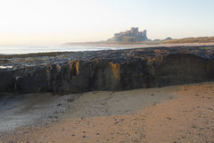 Bamburgh Castle at Dawn. Royalty Free Stock Image