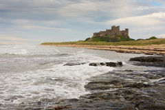 Bamburgh Castle from a distance England Royalty Free Stock Photos