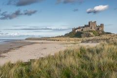 Bamburgh Castle. On the Northumberland coast in England Royalty Free Stock Photos