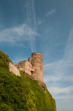 Bamburgh Castle on Northumberland Coast Stock Photo