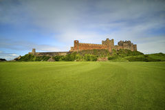 Bamburgh castle, Northumberland taken from the North Stock Photography