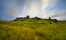 Bamburgh castle, Northumberland taken from the North Stock Image