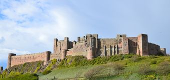 Bamburgh Castle. Northumberland UK. Photo taken April 2015 Royalty Free Stock Photos