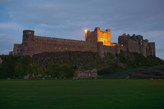 Bamburgh Castle, Northumberland, from the West Stock Photography