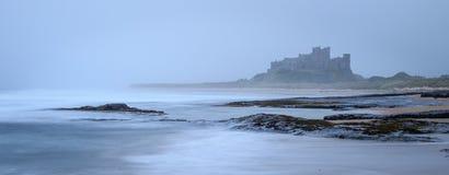 Bamburgh castle. In northumbria , Long exposure Stock Photos