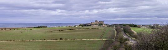 Bamburgh Castle 8809 Pano Στοκ φωτογραφία με δικαίωμα ελεύθερης χρήσης