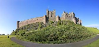 Bamburgh castle panorama enlagnd Stock Photos