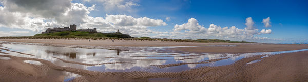 Bamburgh Castle Panorama Stock Images