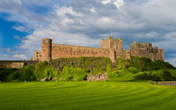 Bamburgh Castle (view from the Green) Royalty Free Stock Photos