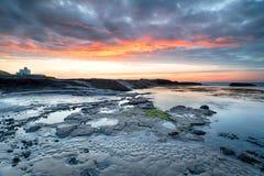 Bamburgh dans le Northumberland images libres de droits