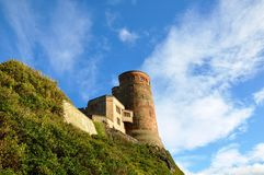 Bamburgh kasztel W Northumberland Fotografia Royalty Free