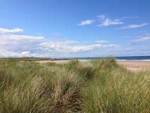 Bamburgh plaża Fotografia Royalty Free