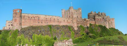 Bamburgh Schloss Stockbild