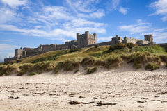 Bamburgh Schloss, Northumberland. Stockfoto