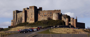 Bamburgh Schloss Northumberland, England Lizenzfreie Stockbilder
