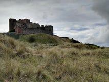 Bamburgh slott Arkivbilder