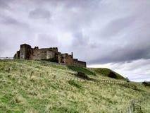 Bamburgh slott Arkivbild