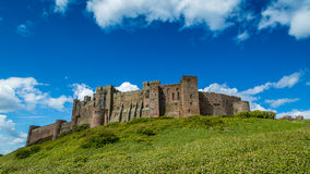 Bamburgh slott Royaltyfria Foton
