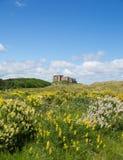 Bamburgh slott England UK Arkivfoto