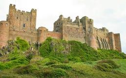 Bamburgh slott northumberland arkivbilder