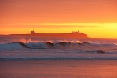 Bamburgh Sunrise Stock Photo