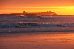 Bamburgh Sunrise Royalty Free Stock Photo