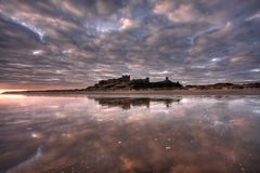 Bamburgh Sunrise Stock Images
