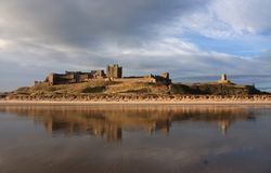 Bamburgh Village and Castle Stock Photography