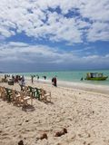 Bamburi plaża Mombasa Kenja obraz stock