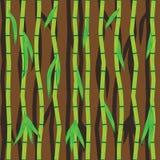 Bambusów liście i kije Abstrakcjonistyczny bezszwowy wektor Obrazy Stock