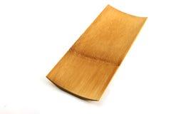 Bambusów naczynia na białym tle. Obrazy Stock