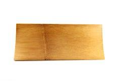 Bambusów naczynia na białym tle. Zdjęcia Royalty Free