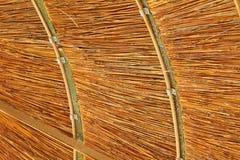 Bambusüberdachung, zum des Schattens herzustellen stockfotografie