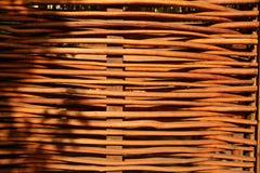 Bambus ściana lub bambus tekstura płotowy tło Obrazy Stock