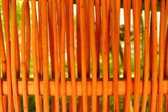 Bambus ściana lub bambus tekstura płotowy tło Obraz Stock