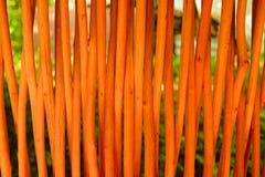 Bambus ściana lub bambus tekstura płotowy tło Zdjęcia Royalty Free