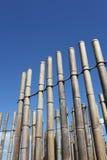 Bambus ścienna dekoracja Zdjęcia Royalty Free