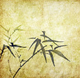 Bambus auf altem grunge Antikepapier Stockfoto