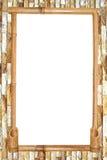 Bambus deska na czerwonym ściana z cegieł tle. Zdjęcie Royalty Free