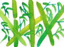 Bambus - einer der vier Herren - Tinten-Zeichnung lizenzfreie abbildung