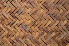 Bambus gesponnene Matte Lizenzfreie Stockbilder