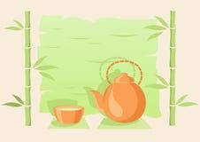 Bambus i zielona herbata Obraz Stock