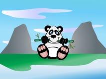 bambus je liść pandy Obraz Royalty Free