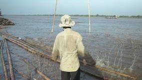 Bambus, Machete, der Mekong, Kambodscha, Südostasien stock footage