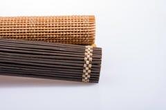 Bambus mata jako słomiana abstrakcjonistyczna tekstura Zdjęcie Royalty Free