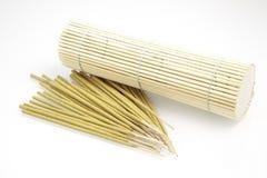 Bambus mit Duftkasten stockfoto