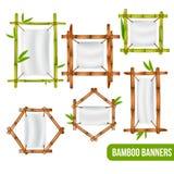Bambus-Rahmen-Fahnen eingestellt Stockbild