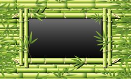 Bambus rama dla blackboard royalty ilustracja